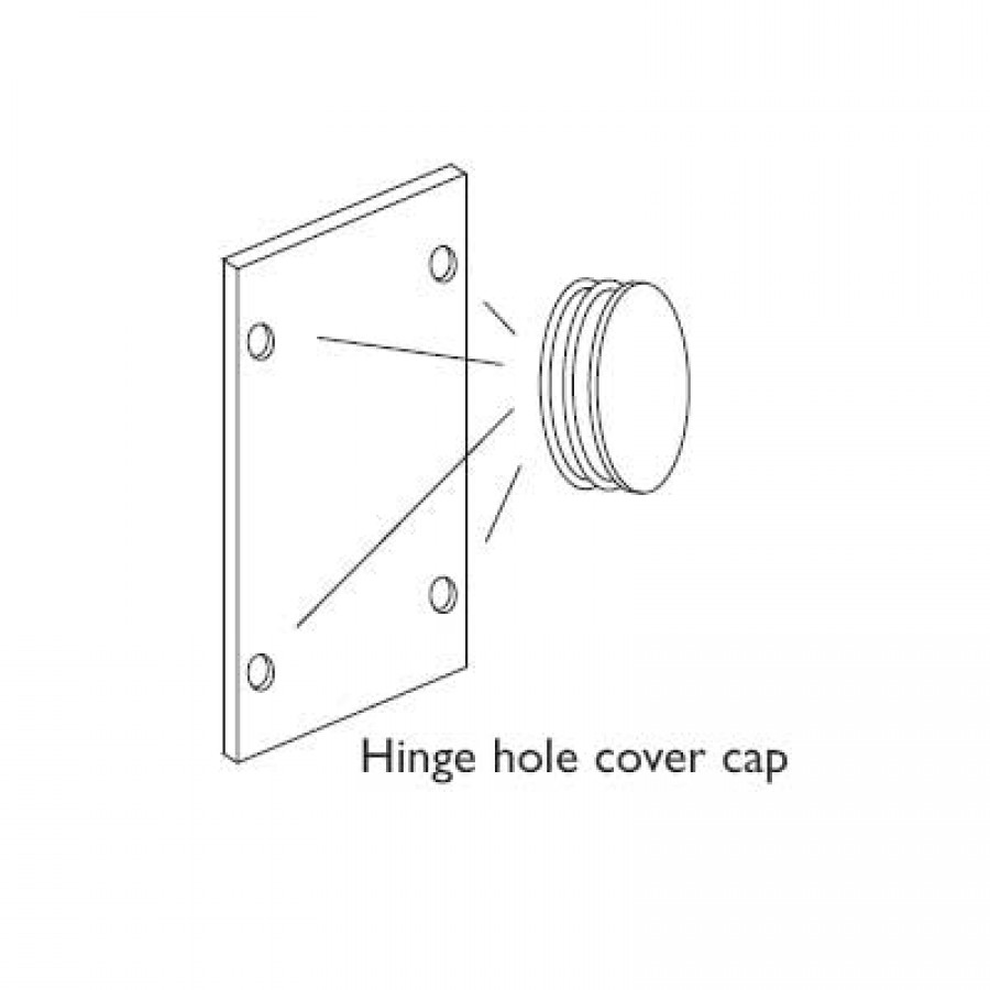 DSA hinge cover cap Set4 white