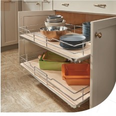 "12"" Pullout Solid Bottom Baskets w/ Soft-Close"