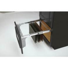 Side Mounted File Drawer for 1-1/2 in. Face FrameChromeMetal