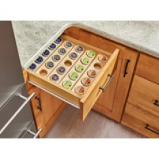 K-Cup Drawer Insert for 24 in. Base Cabinet or SmallerNaturalWood