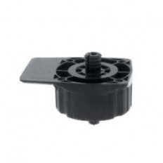 860 Dowel ABS Plastic Flange Socket 10mm Black