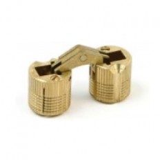 Cylindrical Hinge 12mm Brass