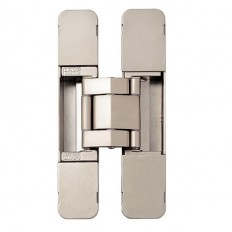 3-WAY ADJUSTABLE CONCEALED HINGE, Dull Nickel, HES3D-E190DN