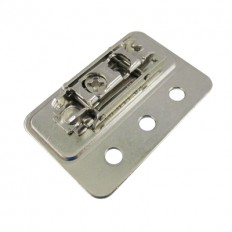 CLIP mounting plate, horizontal (32 mm), 0 mm, steel, screw-on, HA: cam, right+left, 175H3F00