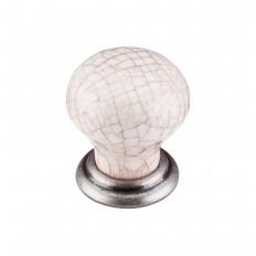 """Ceramic Knob Small 1 1/8"""" - Pewter Antique & Antique Crackle"""