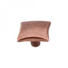 """Square Knob 1 1/4"""" - Old English Copper"""