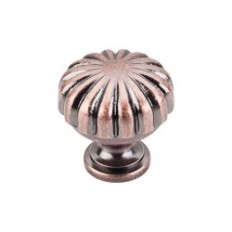 "Melon Knob 1 1/4"" - Antique Copper"