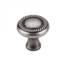 "Swirl Cut Knob 1 1/4"" - Pewter Antique"
