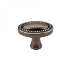 "Oval Rope Knob 1 1/4"" - German Bronze"
