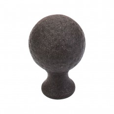 "Paris Knob Mottled 1 1/16"" - Rust"