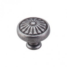 "Flower Knob 1 1/4"" - Pewter"