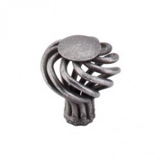 "Round Twist Knob Small 1 1/4"" - Pewter"