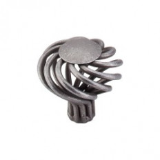 "Round Twist Knob Large 1 1/2"" - Pewter"
