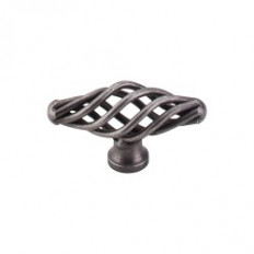 "Oval Twist Knob Small 2 1/8"" - Pewter"