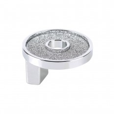 SMALL ROUND KNOB WITH HOLE SPARKLING SWAROVSKI CHROME