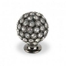ROUND SMALL BLACK NICKEL SWAROVSKI CRYSTALS BLACK NICKEL