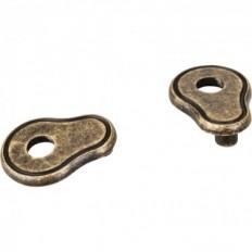 Escutcheons, Distressed Antique Brass, PE02-ABM-D