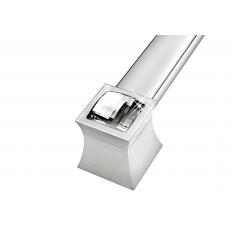 """ZP0769-92, Vitta Door Pull Back to Back L 21 1/2""""x H 1 7/8""""Stainless Diamond"""