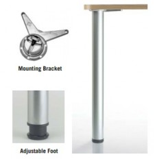 "Hamburg WhiteTable-Height Legs - 27 3/4""SINGLE LEG"