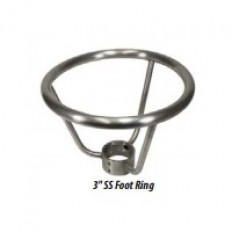 """Foot Ring for Stainless Steel Columns, 3"""" Stainless Steel"""
