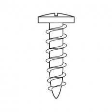 Panhead screw, boring head, Ø4.3 mm, nominal length: 19 mm 834TH