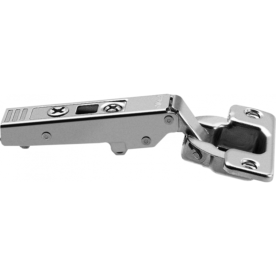 CLIP top standard hinge 107°, corner merge application, hinge cup: screw-on 75T1550