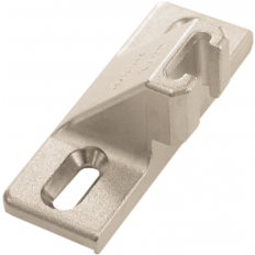 "Mounting plate, 1/2"", screw + narrow T-nut (130. and 133.), screw-on 130.1100.23"
